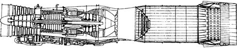 Jet Engine Cross Section by Cross Section Jet Engine With Afterburner Cross Free