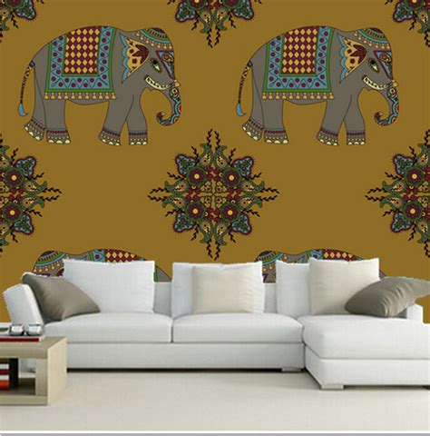 custom 3d elephant wall mural personalized giant photo online get cheap wall paper india aliexpress com
