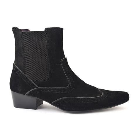 buy black suede heel beatle boots for gucinari