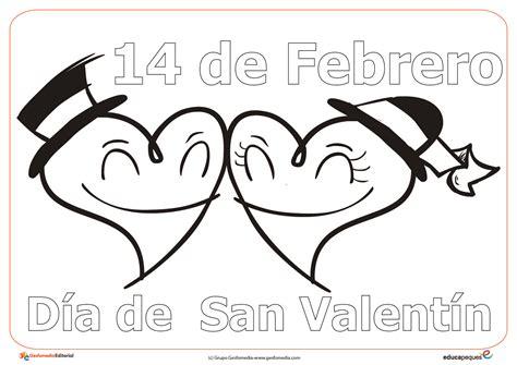 dibujos para colorear del mes de febrero imagui dibujos del 14 de febrero d 237 a de san valent 237 n para