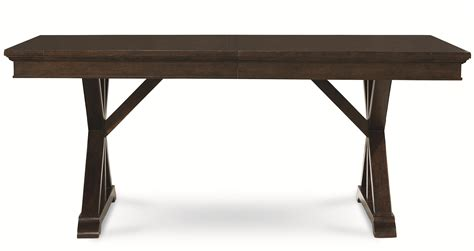 trestle dining room table legacy classic thatcher trestle table with x pedestals