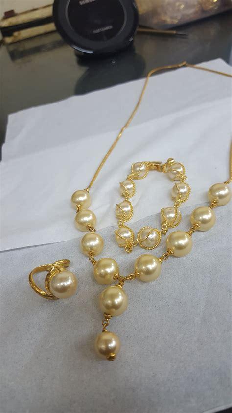 Paket Perhiasan Mutiara Air Tawar Kalung Gelang Cincin Lapis Emas 24k jual paket perhiasan mutiara ikat emas lapis gelang kalung cincin di lapak rizki ramadhani tensha86
