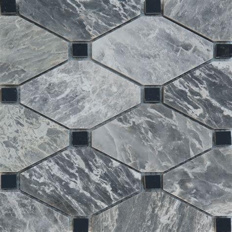 black and white marble polished boliche mosaic tile white grey black marble polished