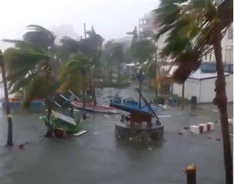 hurricane irma st martin hurricane irma damage and floods as it hits st martin