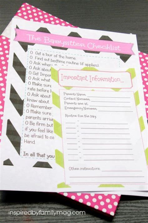 8 Great Babysitting Tips by How To Be A Great Tips Printable To Be The