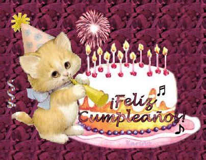 imagenes de feliz cumpleaños hermana gif saludo de cumplea 241 os de gatito mandarsaludos com