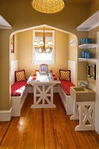 Kitchen And Dining Room In Front Of House Splashy Breakfast Nooks In Dining Room Mediterranean With