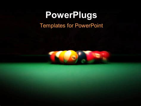 powerplugs templates for powerpoint powerpoint template spotlight shinning on pool table with