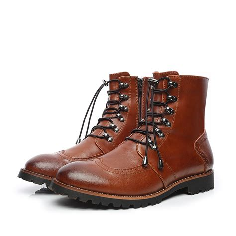 stylish mens leather boots aliexpress buy relikey brand style