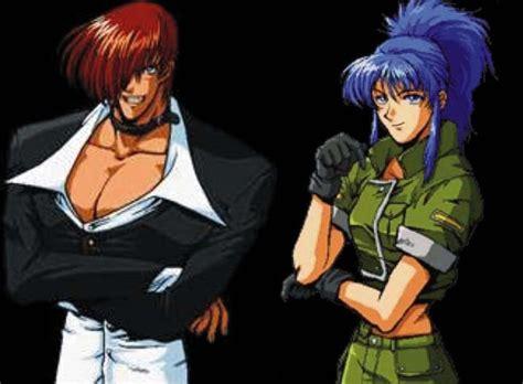 imagenes anime kof kof kyo iori and leona by vikadan on deviantart