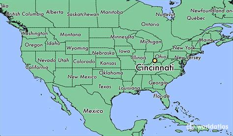 usa map cincinnati where is cincinnati oh cincinnati ohio map