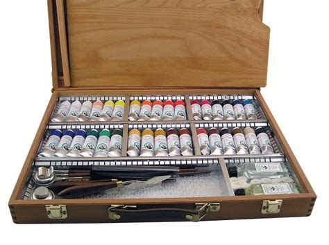acrylic painting kit india deluxe wood box set rex supplies