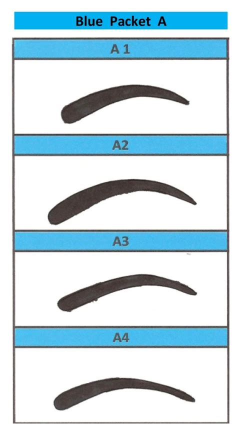 eyebrow shaping template printable eyebrow stencils actual size eyebrows