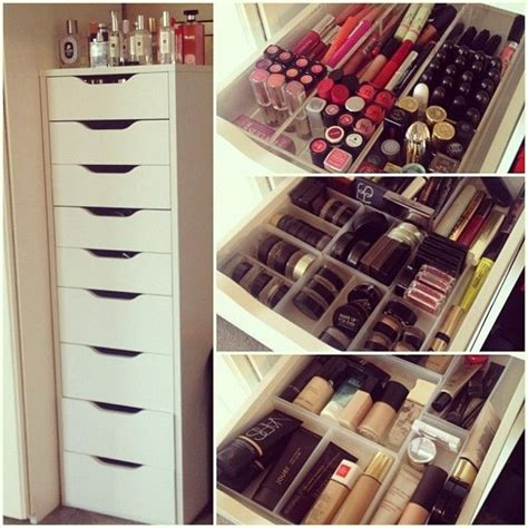 makeup storage ikea 7 ikea inspired diy makeup storage ideas