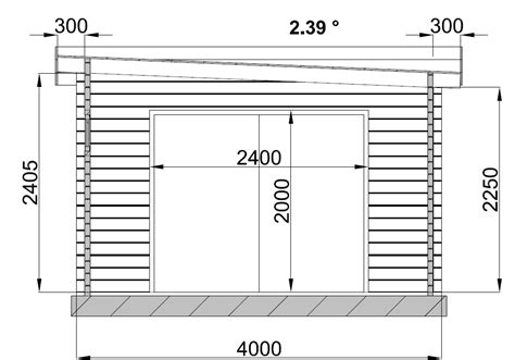 garage bois toit plat garage en bois
