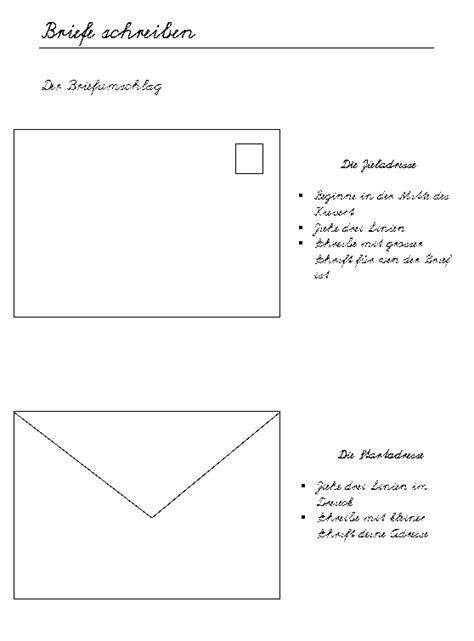 Brief Beschriftung Schweiz Schulmaterial Arbeitsbl 228 Tter F 252 R Die Unterstufe