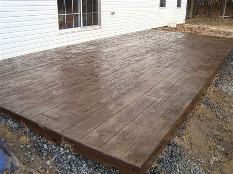Patio Pavers That Look Like Wood How To Build Diy Concrete Patio In 8 Easy Steps