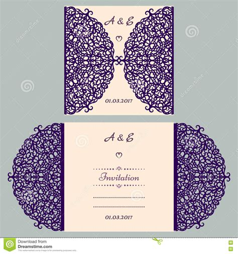 cut pro wedding templates die cut wedding invitation card template paper out with