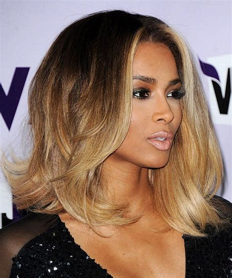 highlights for medium length hair and african american wavy shoulder length bob hairstyles for african american