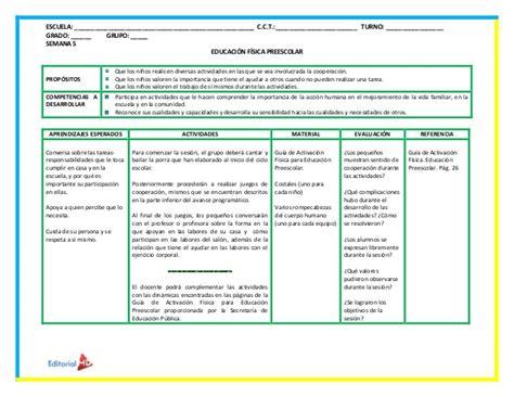 planificaciones educacin primaria planeaciones de educacion fisica para preescolar con