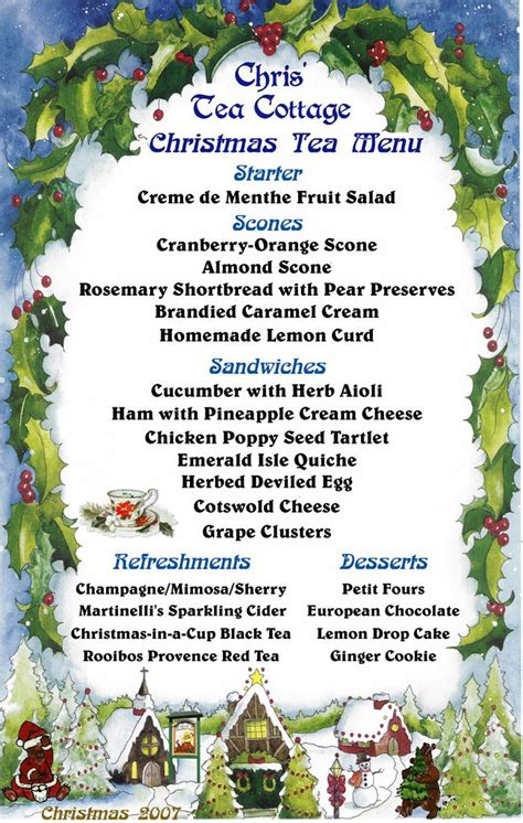 high tea menu google search christmas tea pinterest