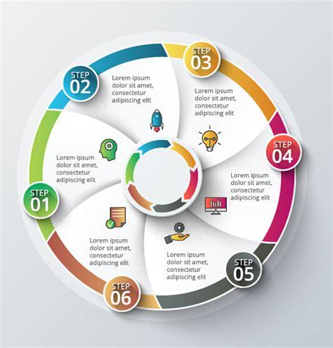 modern circular infographics vector design set