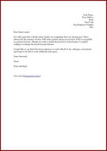 Nurses Resignation Letter Sle by Nursing Resignation Letter Template Design