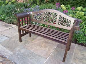 Patio Bench Cast Aluminum Outdoor Bench