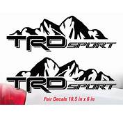 Toyota Trd Logo Stickers Satu Sticker