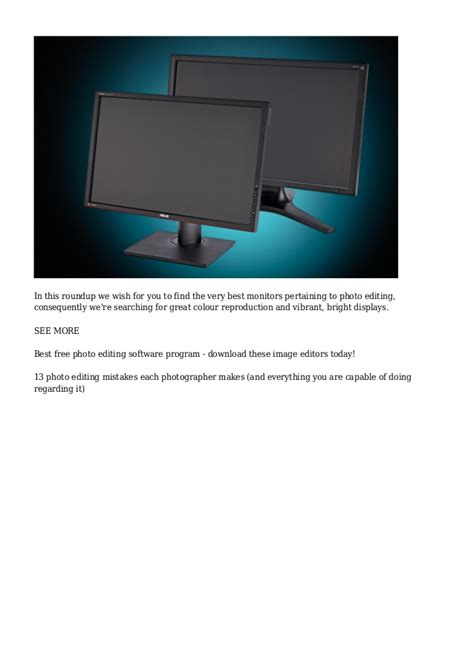 best monitor for photo editing best monitor for photo editing 10 top models tested and