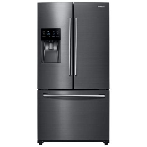 samsung fridge shop samsung 24 6 cu ft door refrigerator with dual maker fingerprint resisitant