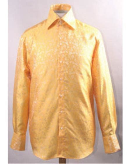gold pattern shirt unique pattern shiny gold color shirt buy men s shirts onl