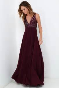 dress the population plum purple dress sequin