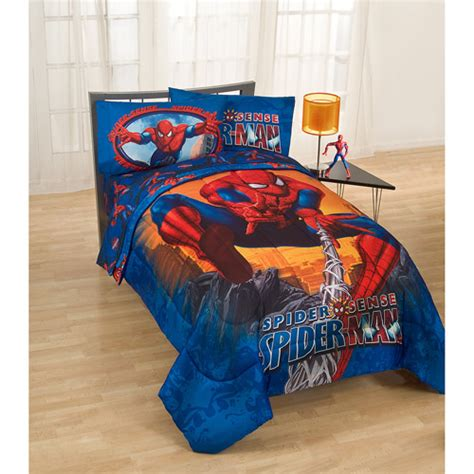 spiderman twin comforter spiderman twin full size comforter walmart com