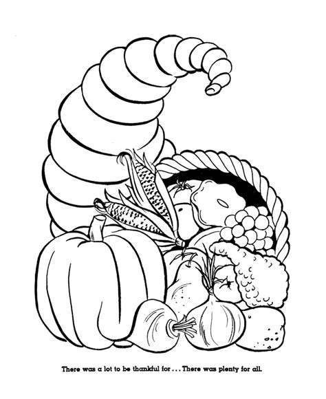 the first thanksgiving coloring page sheets horn of