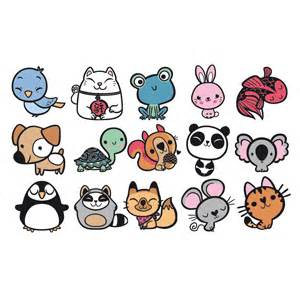 mini stamp kit cute animals in rubber stamps ink