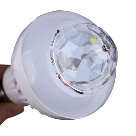 rotating led disco light 2 in 1 rotating disco rgb bulb ball effect white led