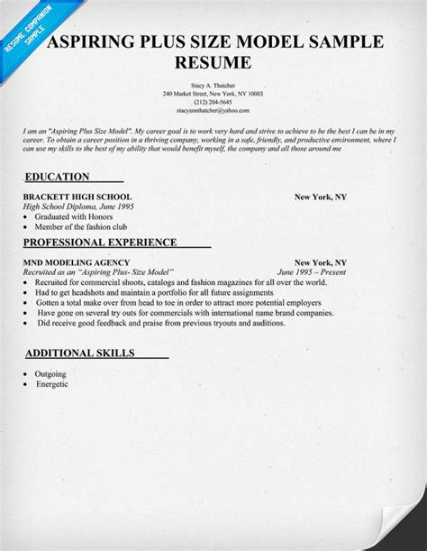exle of model resume exle resume resume format size