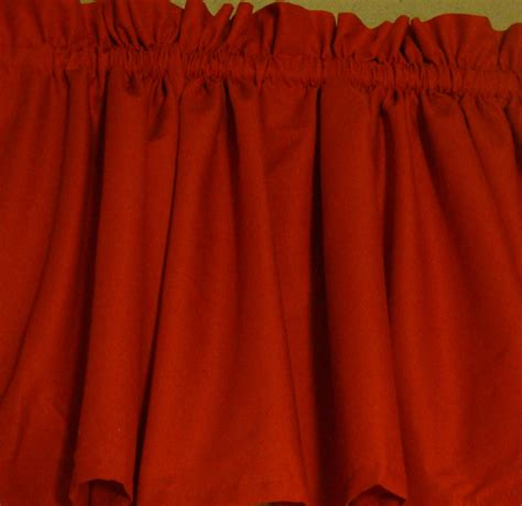 bright red curtains bright red valance curtain window treatment by