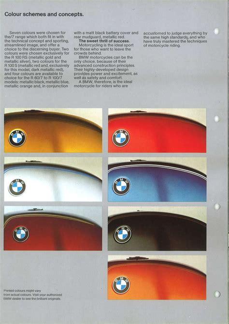 motorcycle colors bmw color chart autos post