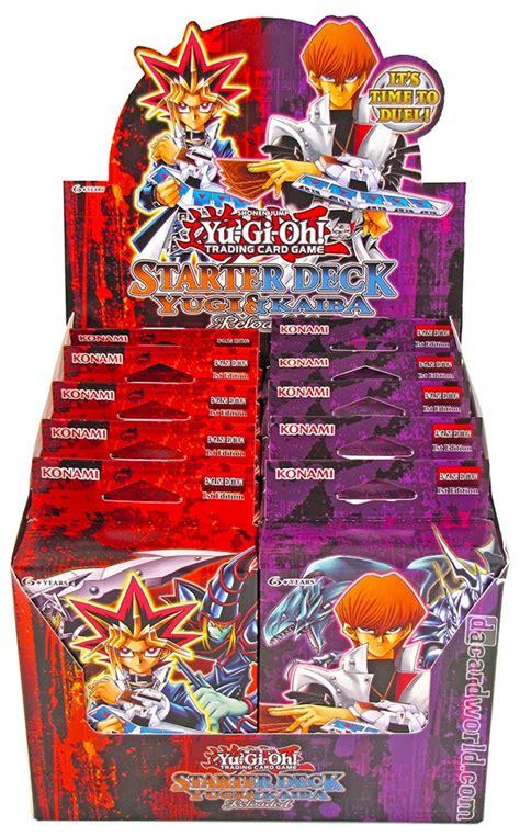 yugi reloaded starter deck card list konami yu gi oh yugi kaiba reloaded starter 12 box