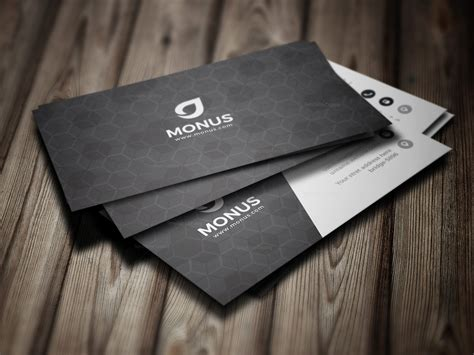 Cube Business Card Template by Black Cubes Modern Business Card Design Template 001592