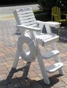 how to build a lifeguard chair for a pool woodworking
