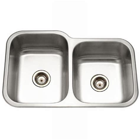 Houzer Kitchen Sinks Houzer Elite Series Undermount Stainless Steel 32 In Bowl Kitchen Sink Ec 3208sr 1 The