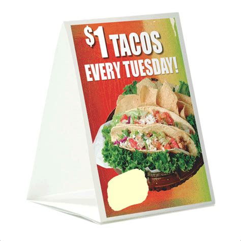 restaurant table tents custom printed hotel table tents
