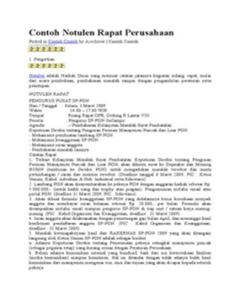 Contoh Notulen Rapat Yang Baik Dan Benar by Contoh Format Laporan Notulen Rapat Windows 10 Typo