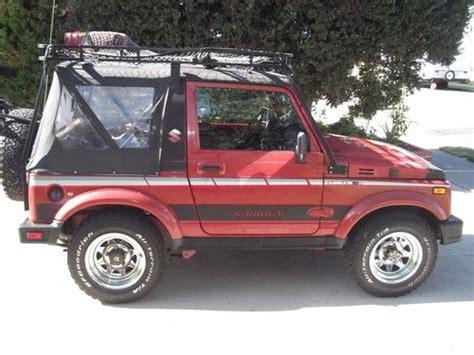 Suzuki 4wd Vehicles Purchase Used Suzuki Samurai 4wd Soft Top All Original