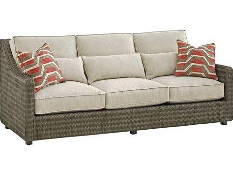bahama cypress point back rattan sofa