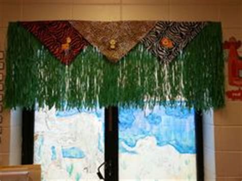 grass skirt curtains jungle themed window valance