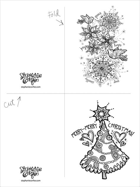 printable christmas cards color in 9 best images of christmas coloring printable for teacher